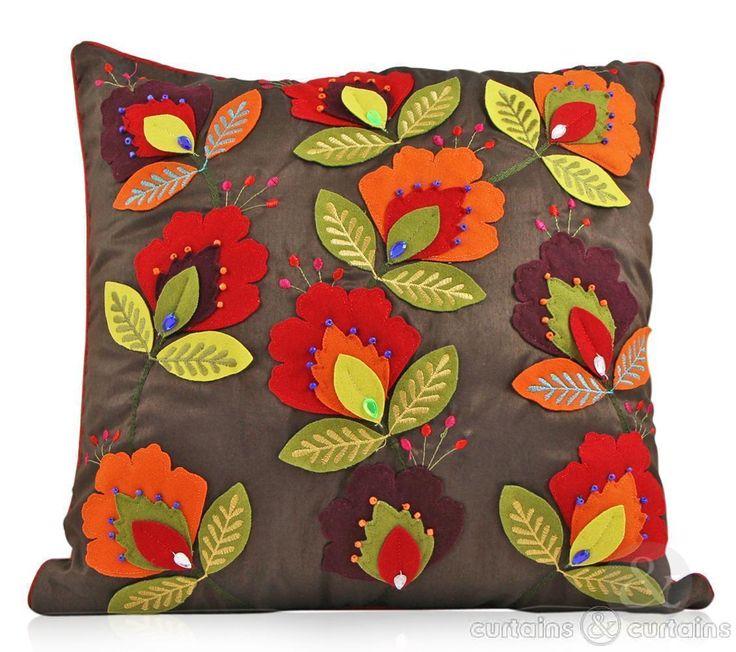 Love this applique! - Cushions UK cut out felt appliqué on a luxurious faux silk base. 13.99 Pounds