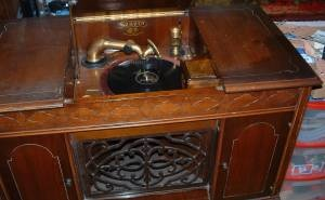 Old Wood 1923 Sonora Electric Victrola Console Phonograph
