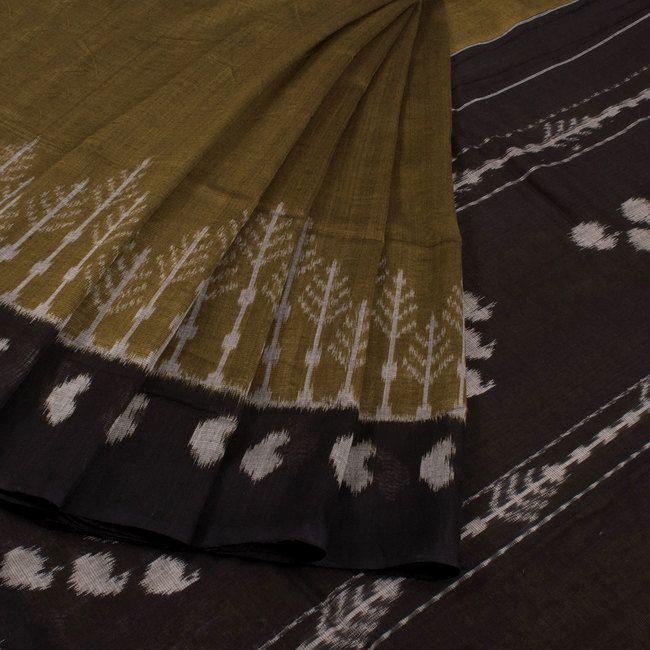 Handwoven Ikat Cotton Saree 10020522 - AVISHYA.COM