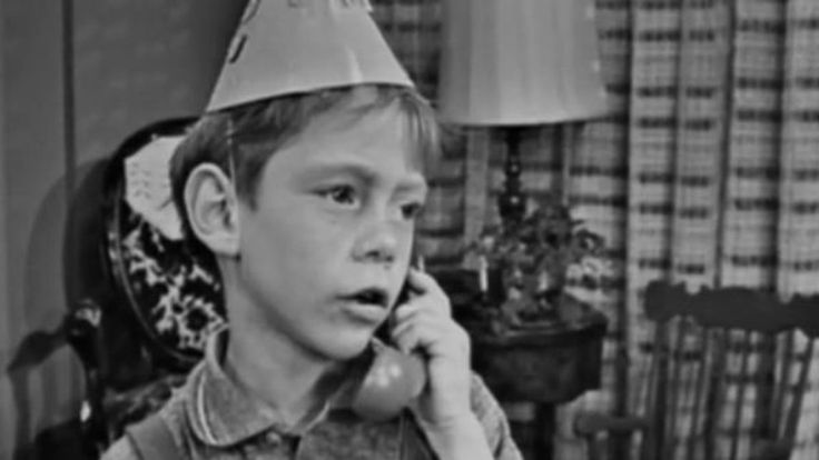 0 young Bill Mumy on the phone in twilight zone long distance call
