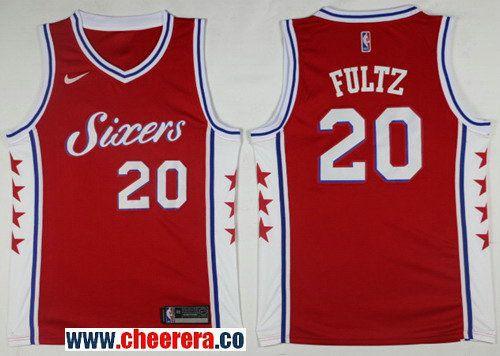 3e639bb0ae71 Men s Nike Philadelphia 76ers  20 Markelle Fultz Red NBA Swingman Jersey