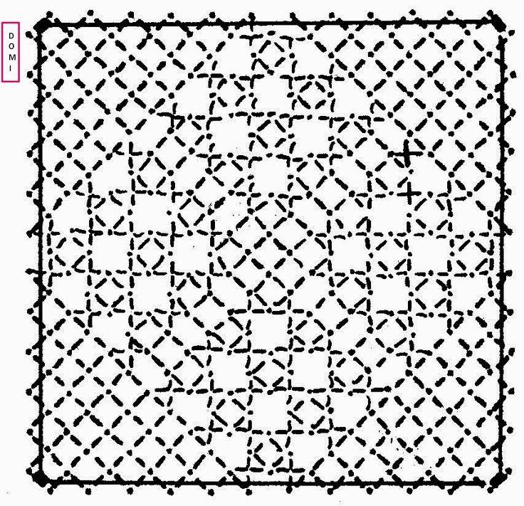 C'est l'ultime carré de notre damier. Dominique vous propose de le réaliser en fond la vierge sur fond torchon. Comme le précédent il n'...