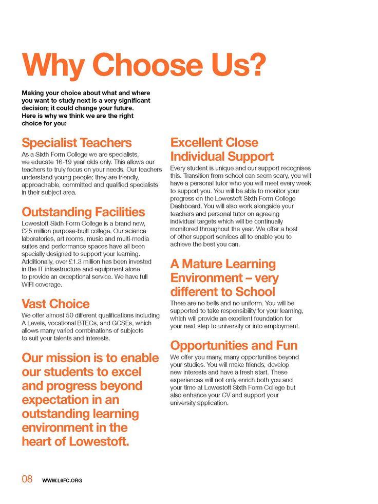 Lowestoft Sixth Form College Prospectus 2014/15 - pg.8
