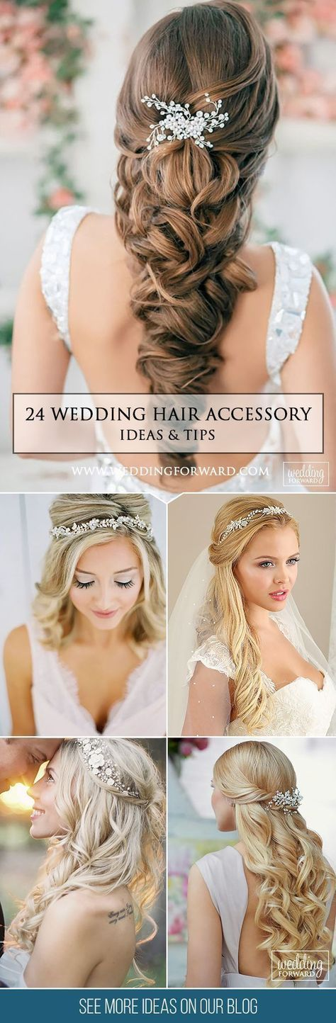 24 Lovely Wedding Hair Accessory Ideas & Tips ❤️ Want to add something beautiful to your wedding look? See our collection of wedding flower crowns & hair accessories which was made to inspire you! See more: http://www.weddingforward.com/hair-accessories-inspiration/ #weddings #hairstyles #weddinghairaccessories