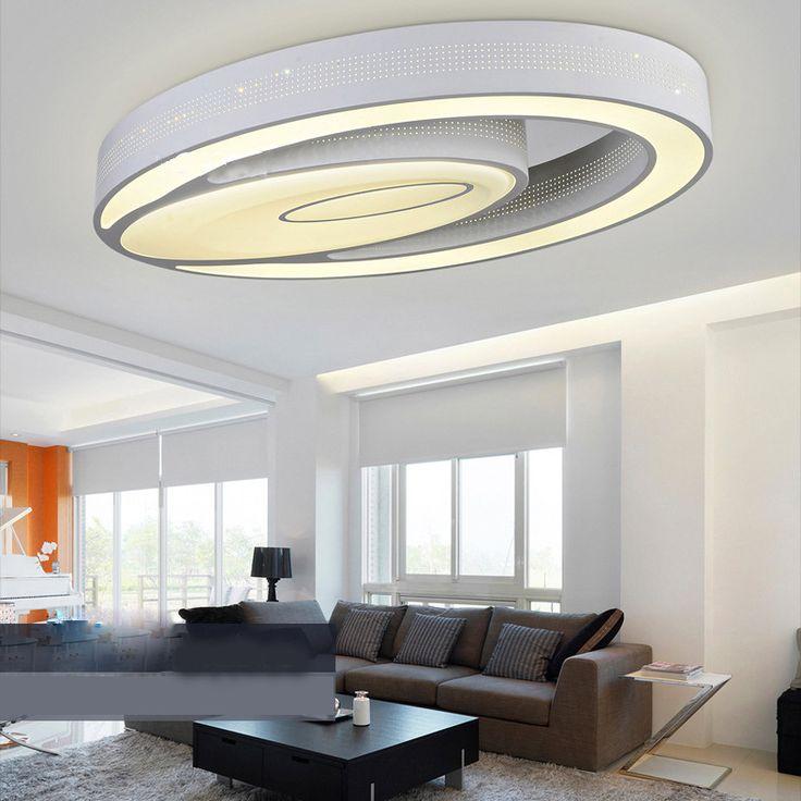 plafonnier moderne mode simple led acrylique ovale blanche encastre lumire luminaire design pour salon chambre salle - Lumiere Led Pour Cuisine