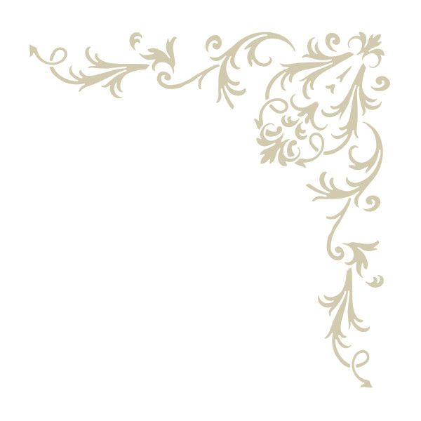 Stencils   Corner   Victorian Baroque - stencilease.com ($20) ❤ liked on Polyvore featuring backgrounds, frames, borders, corners, decoration, fillers, embellishments, effects, details and outline
