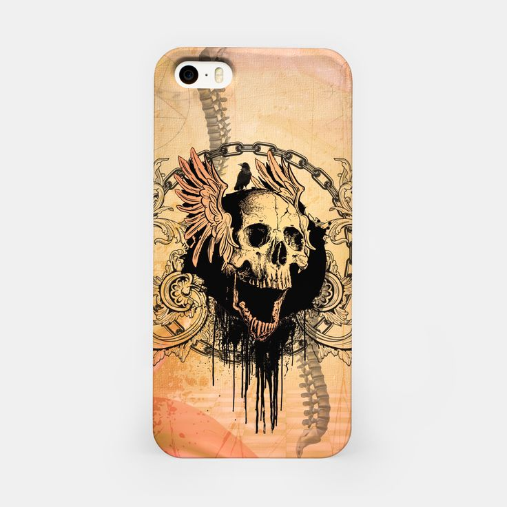 Awesome skull iPhone Case, Live Heroes