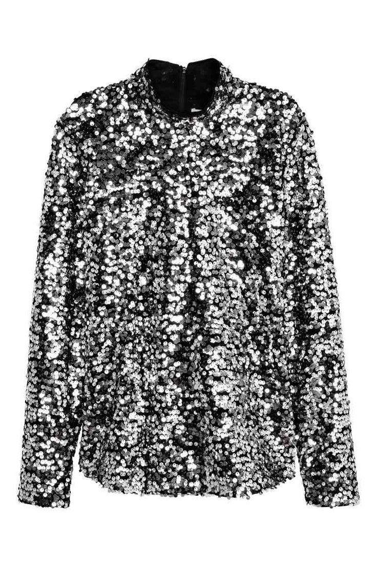Camisola de lantejoulas   H&M
