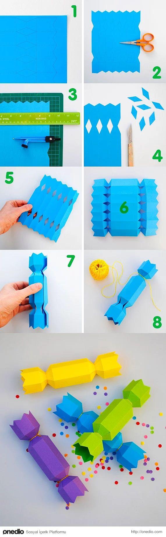 Şeker gibi bir hediye paketi içi de oyuncak dolu... İşte bir çocuğun hayali!