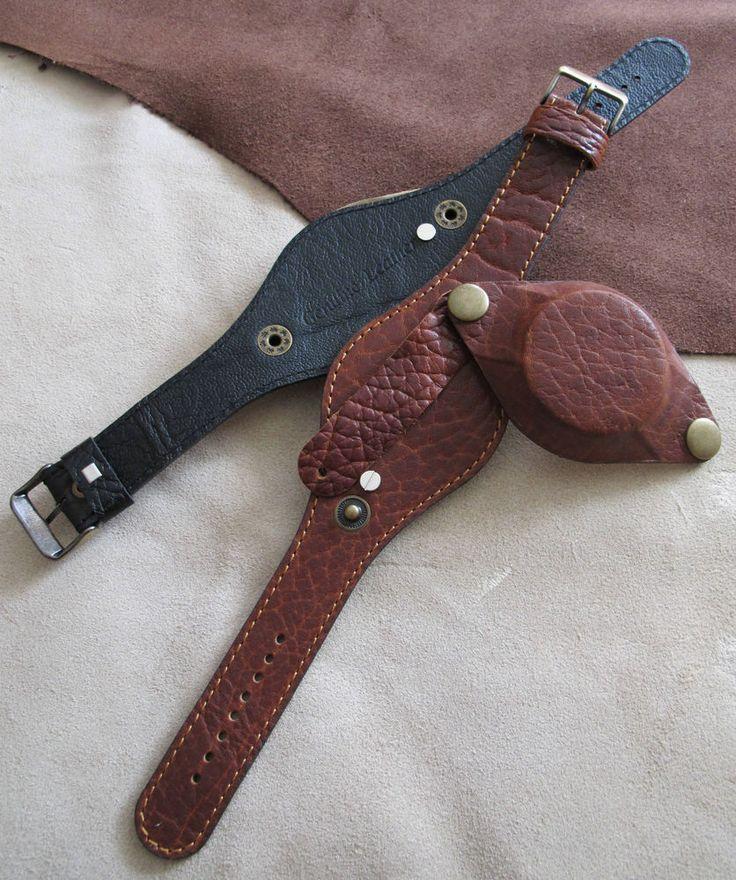 кожаные часы strap/band с защитить чехол подходит провод ремешка 18 мм или выше bl/br # 200 in Украшения и часы, Часы, Ремешки для наручных часов | eBay