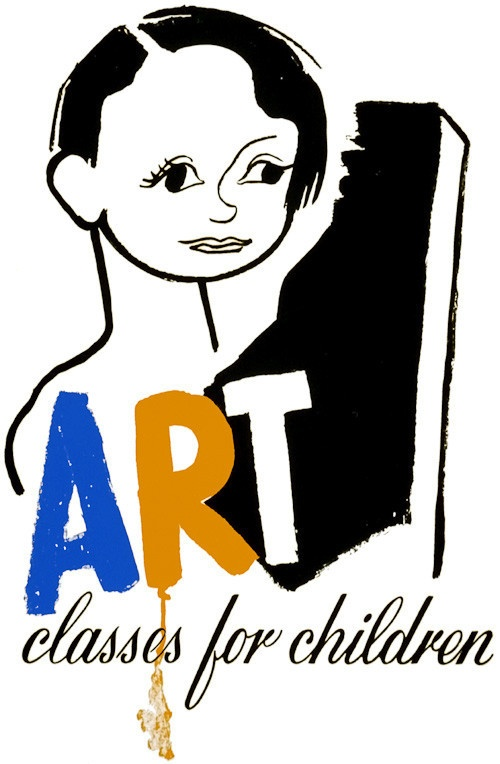 This WPA Federal Art Project poster was created in Chicago in 1940: 'Art classes for children.'
