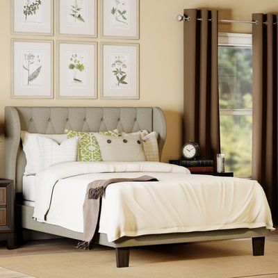 Queen Upholstered Panel Bed Upholstery: Ivory - http://delanico.com/beds/queen-upholstered-panel-bed-upholstery-ivory-612501416/