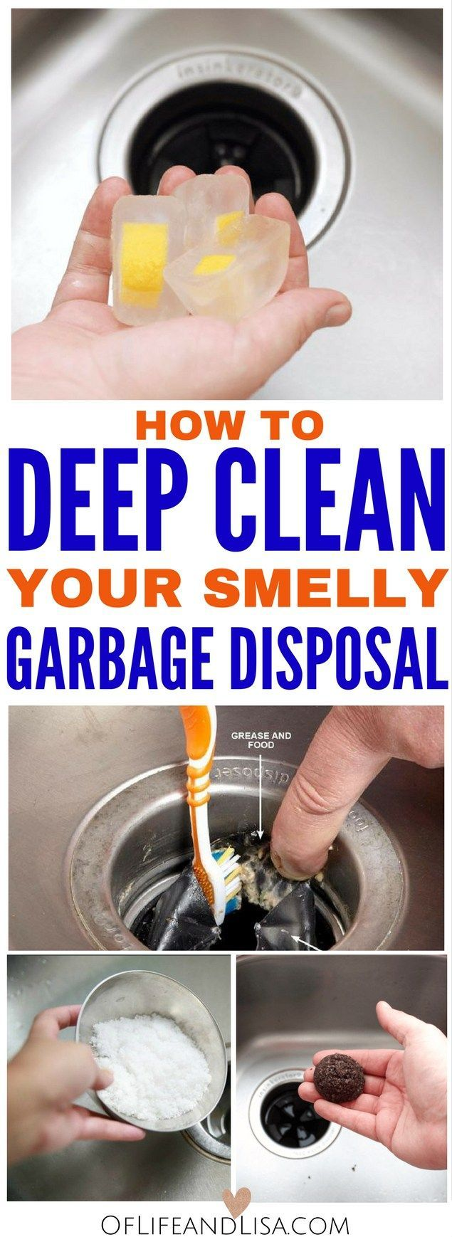 Here's 5 tips on how to deep clean your smelly garbage disposal.