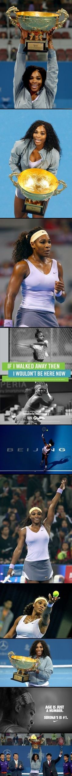 Beijing, China - World No. 1 Serena Williams wins the $5 million China Open, October 2013! Serena, playing in a tournament for the 1st time since winning her 5th U.S. Open crown last month, claimed a remarkable 10th title this year and the 56th of her career. CONGRATULATIONS #SERENA!!