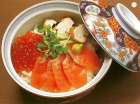 鮭の夫婦丼