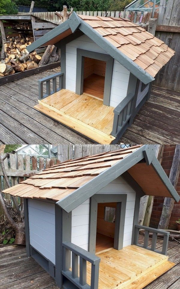 Outstanding Wooden Pallets Dog House Master Plans Pallet Dog