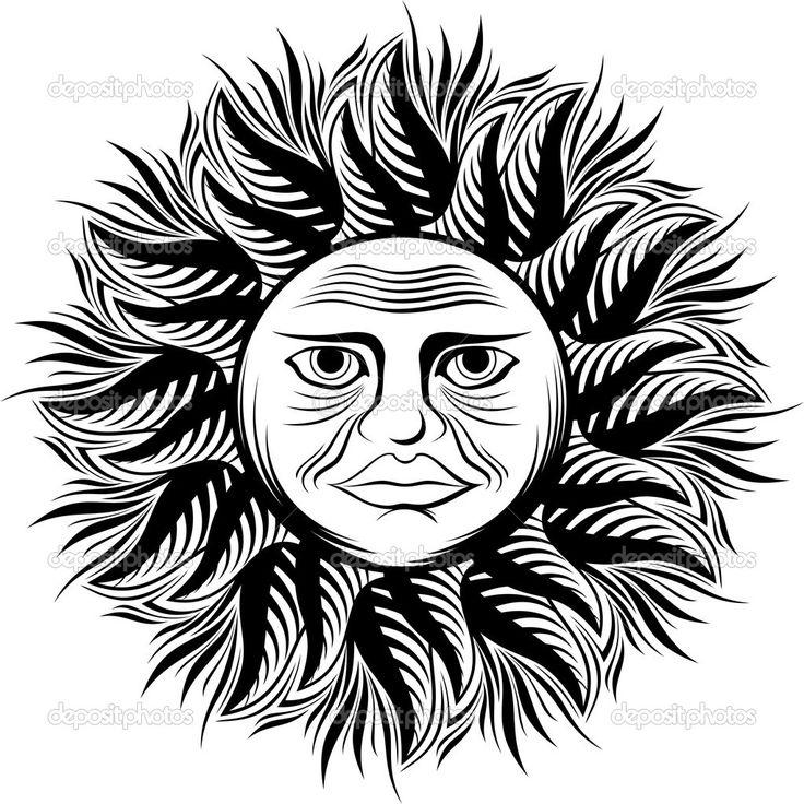 illustrazione del sole con la faccia — Vettoriali Stock © hayaship ...