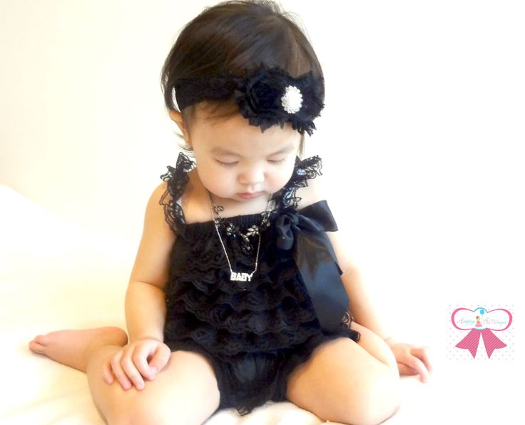 Oli could wear this color.     Gorgeous Black Lace Petti Romper, petti rompers, baby girls birthday outfit, Photography props, Baby petti Rompers,. $19.99, via Etsy.