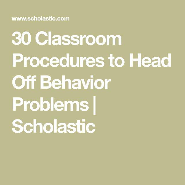 30 Classroom Procedures to Head Off Behavior Problems   Scholastic