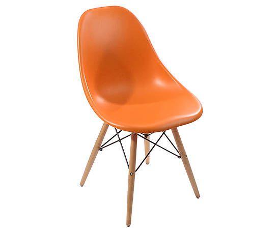 Стул - пластик - оранжевый - В80 см