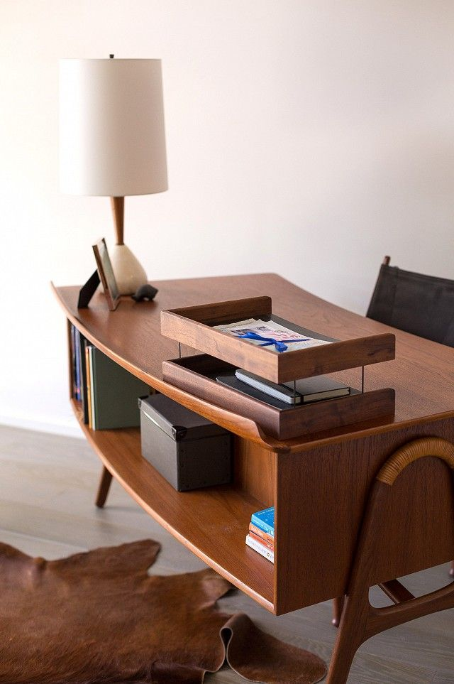 25 best ideas about mid century desk on pinterest mid century mid century bedroom and home. Black Bedroom Furniture Sets. Home Design Ideas