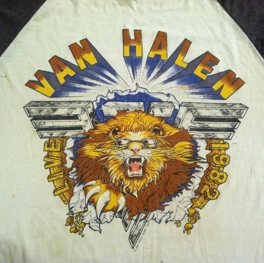 Vintage 1982 Van Halen raglan concert tour t-shirt