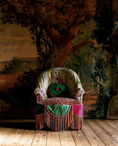 chairDecor, Vintage Chairs, Bohemian Interiors, Boho Chic, Funky Chairs, Armchairs, Farms Life, Chairs Covers, Bohemian Gypsy