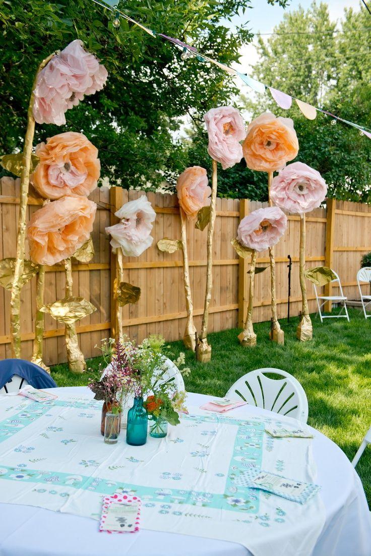 Backyard Florist Decor 11 Best Giant Paper Flower Decorations Images On Pinterest .