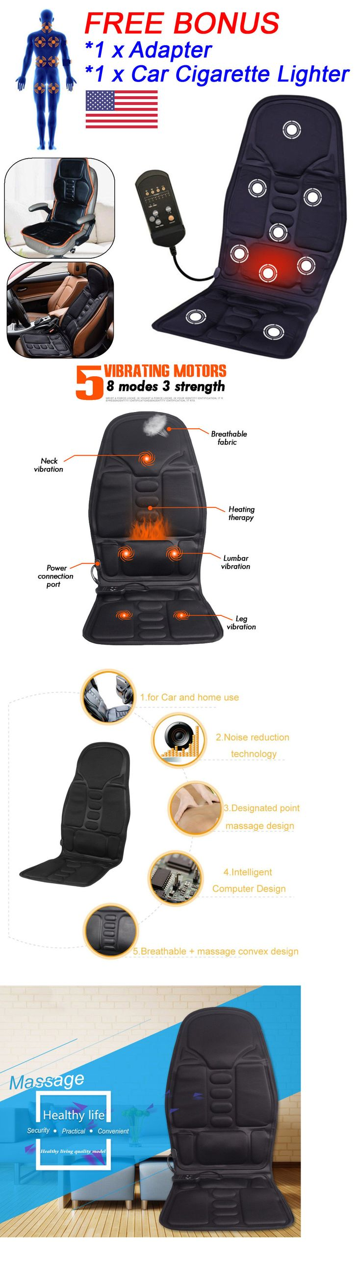 Other massage equipment and accs cushion back massage massager heated car seat chair home pad