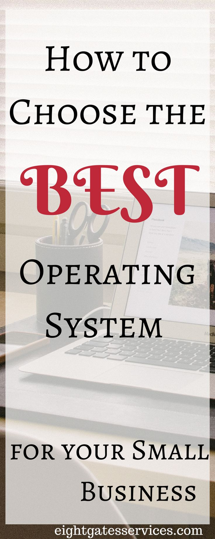 How to choose the best operating system for your small business. While Microsoft Windows has the largest share of the market it could be worth your while to explore the pros and cons of all 3 major computer operating systems to see whether Mac OS X or Linux might be a better fit for your purposes!