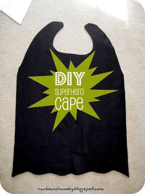 RACKS and Mooby: How To Make a Superhero Cape {no sew!}....cheap toddler Halloween costume