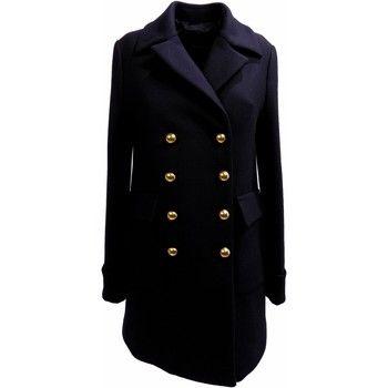 Cappotti Pinko Cappotto Donna  PASSENGERS 1 Panno diagonale Militare Autunno In Blu 350x350