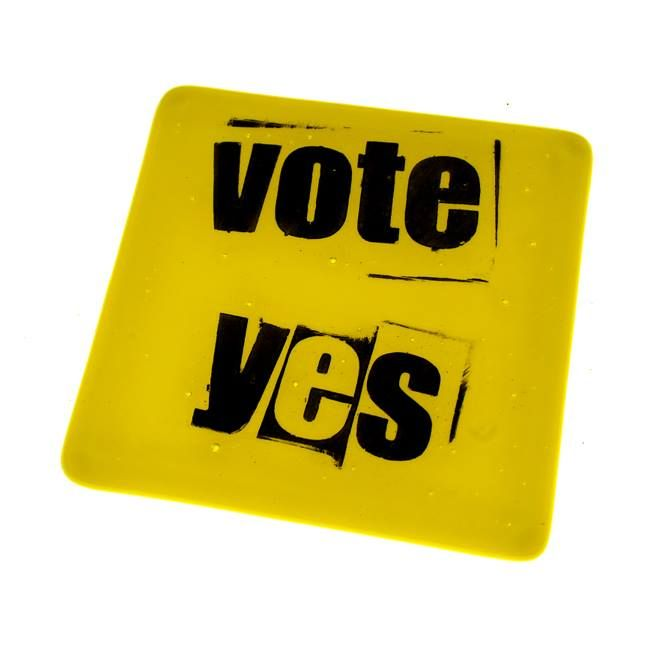 TextTiles is an antidote to the worn-out words that dominate our world. TextTiles are quality hand painted fused art glass tiles. http://texttiles.myshopify.com/ #yes #scotland