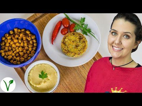 3 Receitas Fáceis Com Grão de Bico: Hambúrguer, Patê (Homus) e Salgadinho Crocante (Petisco) - YouTube