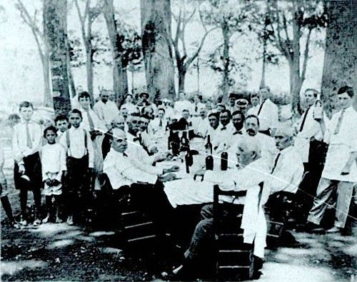 Prevalent throughout the country parishes of south Louisiana between 1890 and 1920, Creole Gourmet Societies sprang from a French tradition. In many cases, the members or their parents settled in Louisiana directly from France. They ignored any connection to Nova Scotia and the 1755 Le Grand Derangement, dismissing the word 'Cajun' as an insult and the Cajuns themselves as ignorant and low-class.