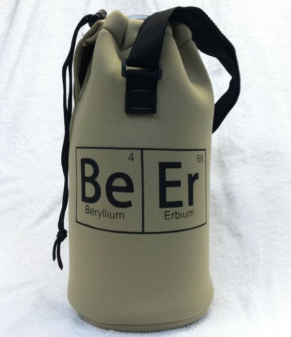Craft Beer Growler Koozie - Periodic Table