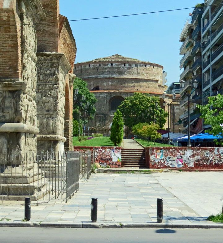 The 4th century AD Rotunda of Galerius, one of several Roman monuments in the city and a UNESCO World Heritage Site. Thessaloniki, Macedonia Greece - Travel Photos by Galen R Frysinger, Sheboygan, Wisconsin