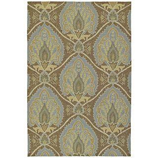 Fiesta Brown Indoor/ Outdoor Damask Rug (7'6 x 9'0) | Overstock.com Shopping - The Best Deals on 7x9 - 10x14 Rugs