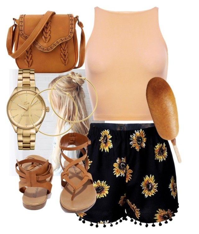 """""""WTW? /STATE FAIR"""" by omgerika ❤ liked on Polyvore featuring Breckelle's, Lacoste, Melissa Odabash, outfit and ootd"""