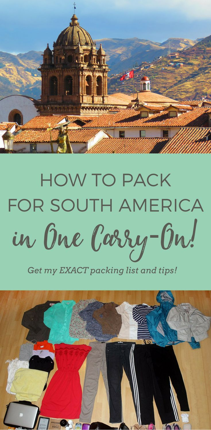 South America Packing List | What to Pack | Peru | Argentina