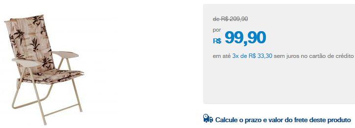 Cadeira Reclinável Estofada Mor Kairos - 4 Posições << R$ 9990 em 3 vezes >>