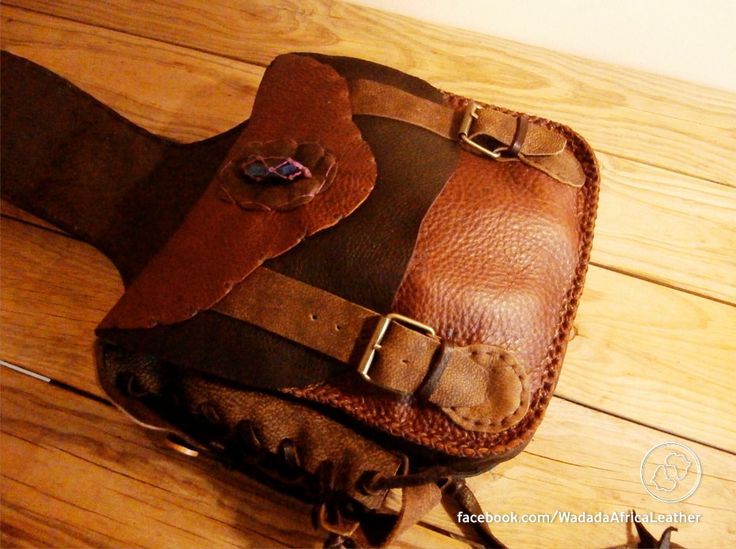 Made to Order // Leather Deerskin Equestrian Horse Saddlebag with Aura Crystal Points, Cellphone Pouch & Adjustable Water Bottle Holder by WadadaAfrica on Etsy