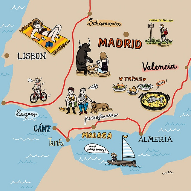 cool illustrative map    http://www.flickr.com/photos/julietteenrose/5195488362/in/photostream/
