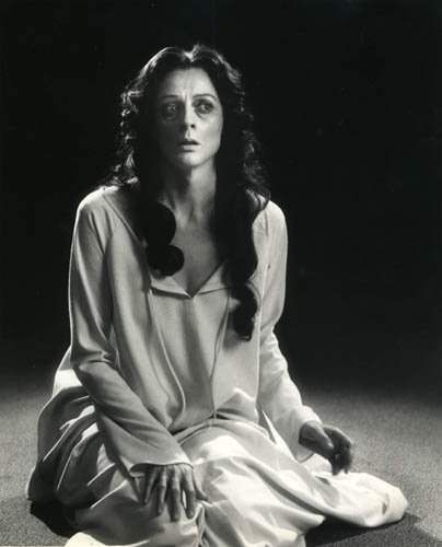 A young Maggie Smith as Lady Macbeth in the Stratford Festival's production of Shakespeare's Macbeth (1978)