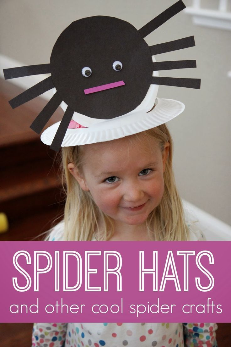 Toddler Approved!: Spider Hat and Other Cool Spider Crafts for Kids #spider #Halloween #kids #art