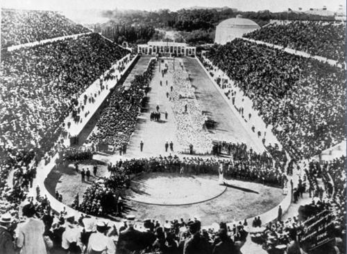 Kalimarmaro Stadium during the 1896 Athens Olympic Games