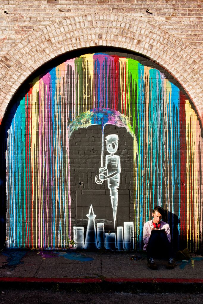 graffitti: Wall Art, Wallart, Street Art Utopia, Rainbows Colors, Urbanart, Urban Art, Melted Crayons, Crayons Art, Streetart