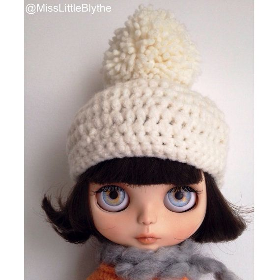 Crochet hat for Blythe doll, gorrito para muñeca, cappello per bambola