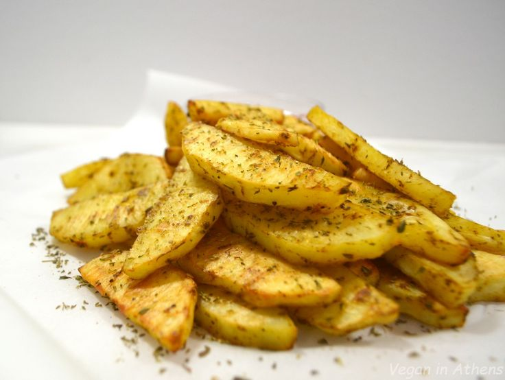 The perfect oil-free baked French fries - Τέλειες τηγανιτές πατάτες χωρίς λάδι - Vegan in Athens