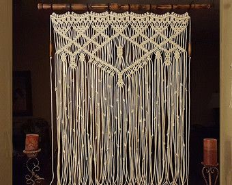 Macrame Wall Hanging  Bohemian Decor  Wall by MonroeArtist on Etsy